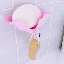 Cute Animal Soap Holder Non Slip Box Toilet Shower Tray Draining Rack Strong No Trace Storage Bathroom Accessories