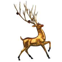 Bronze Sika Deer Statue Office Home Decorations Accessories Creative Gift Sculpture Figurine Decoration Ornament Craft