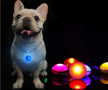 20 pcs/lot LED Flashlight Dog Cat Collar Glowing Pendant Night Safety Pet Leads Necklace Luminous Bright Decoration Collars