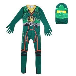 Image 2 - Ninja Costume Kids Costumes Halloween Costumes for kids Ninjago Costume Boys Halloween Dress Cosplay Superhero Jumpsuits Suits