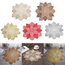 Цветок ПВХ полый сетчатый коврик для стола Противоскользящий изоляционный коврик для чаши коврик для кухни столовые коврики