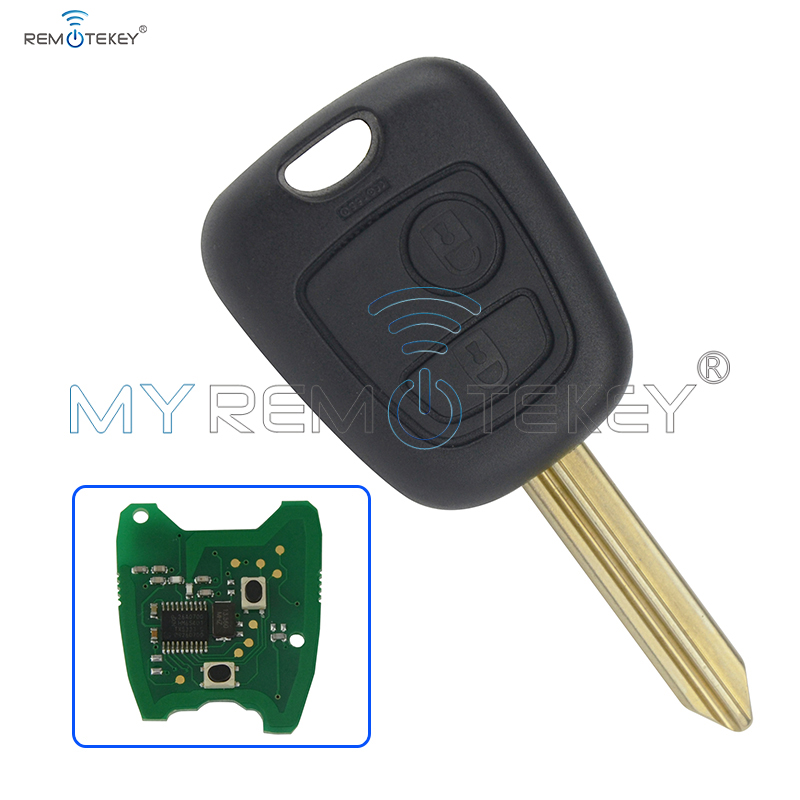 Remote key 2 Button 433 mhz with ID46 electronic chip for <font><b>Citroen</b></font> Xsara Picasso <font><b>Berlingo</b></font> 2002 2003 2004 2005 <font><b>2006</b></font> 2007 remtekey image