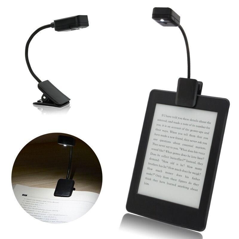 lampe a clip pour e book lampe livre a led couleur noire mini led pour lecture de livres kindle 2 modes de luminosite flexibles