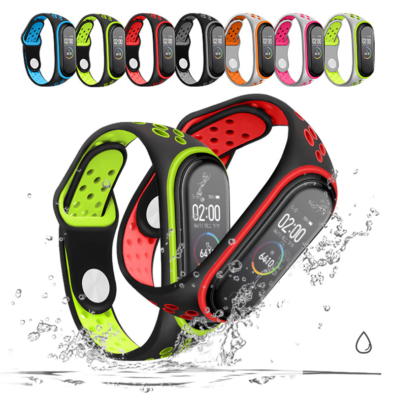 TPU Color Watchbands For Xiaomi Mi Band 3 4 Reverse Buckle Silicone Wristband Replacement Silicone Wriststrap