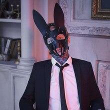 Hombre mujer sexo máscara de cuero de la PU de sadomasoquismo erótico SM coqueteo slave máscara de venda casplay juego de roles para Par vergüenza máscara juego de sexo