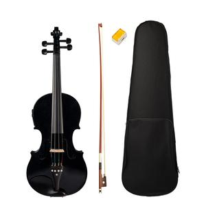 Body-Ebony-Accessories Violin Solid-Wood Black 4/4-Full-Size High-Quality And