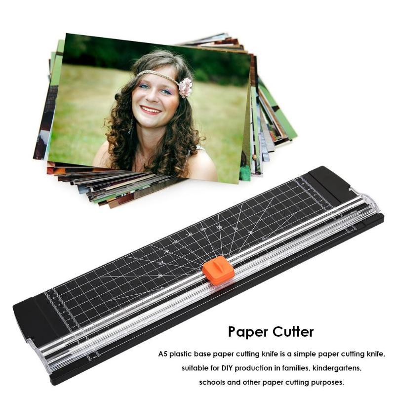 Kunststoff Basis Papier Cutter mit Waage Papier Guillotine Schneiden Maschine Papier Trimmer Klingen Office Home Kunst Handwerk Werkzeuge