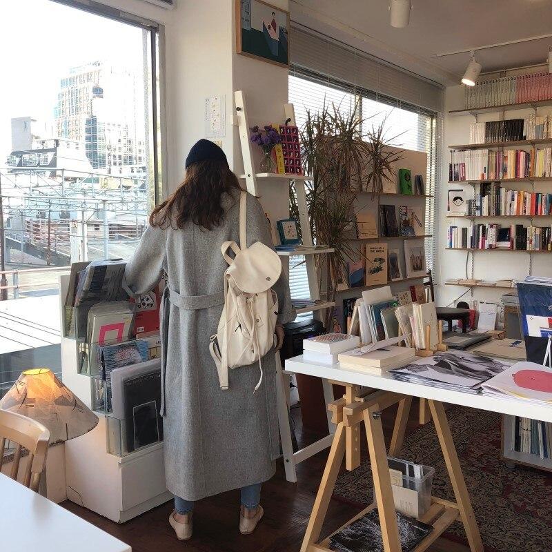 19 Winter Oversize Long Trench Coat Women Cashmere Coat Korean Lady Windbreaker Outwear Streetwear 48