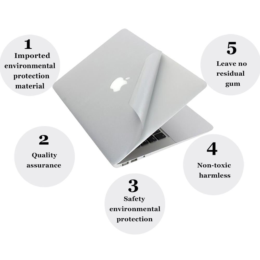 For MacBook 2020 Pro 13 A2289 A2251 Laptop Sticker Top & Bottom Vinyl Skin Cover New Air 13 inch A1932 Retina <font><b>Display</b></font> image