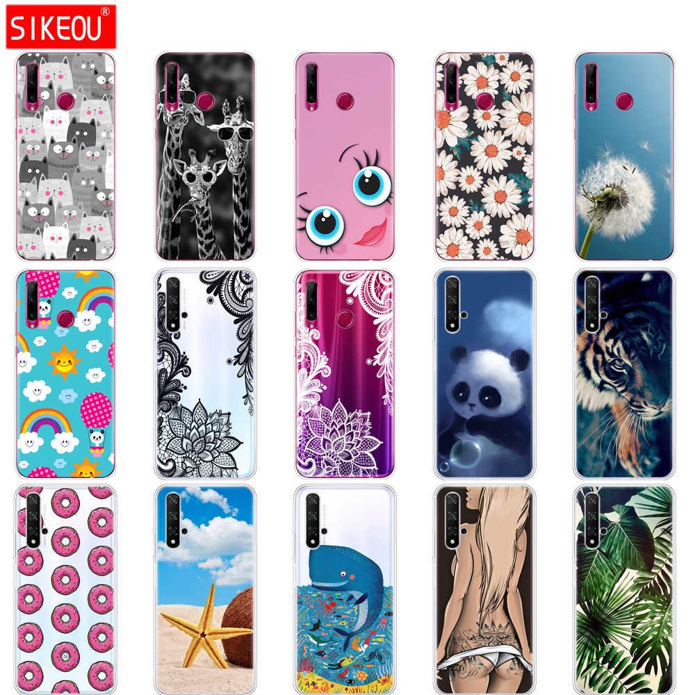 Caso en Honor de 20 caso de silicona cubierta del teléfono para Huawei Honor 20 Pro Lite Honor20 YAL-L21 YAL-L41 de lujo de dibujos animados lindo