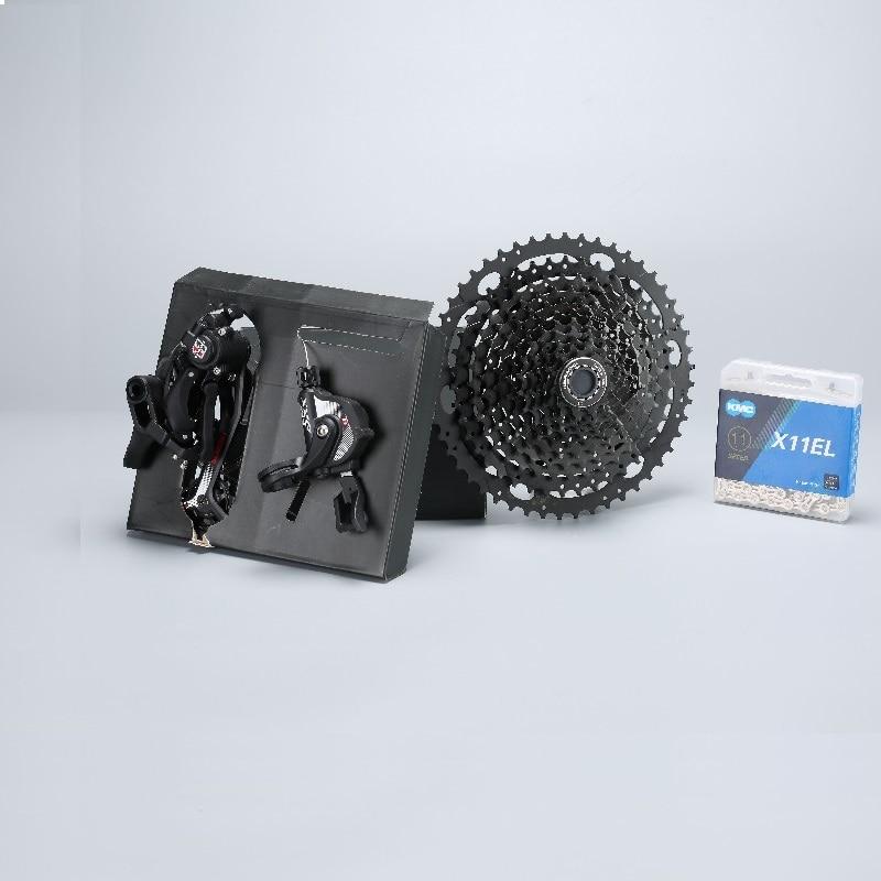 11s vtt groupe vélo 11-50T Cassette levier de vitesse arrière dérailleur chaîne 11 vitesses vélo groupe pour SRAM Shimano XT M8000 Sunrace