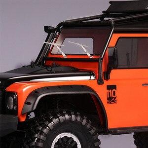 Image 3 - Limpiaparabrisas delantero de Metal para coche, accesorio de piezas de control remoto, para Traxxas TRX4 Defender 1/10, 1 par