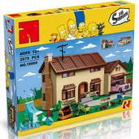 Die die Simpson der familie Kwik-E-Mart Set die 16005 Bausteine Ziegel Pädagogisches Spielzeug 71006 Lustige kinder DIY Geschenk