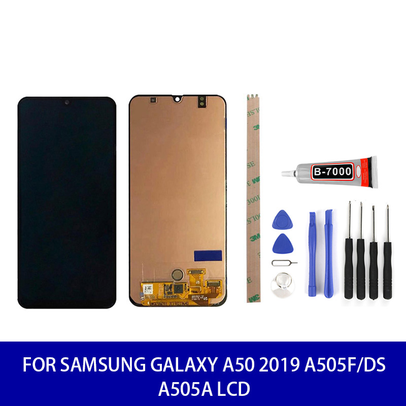Original SUPER AMOLED For Samsung Galaxy A50 2019 Lcd Display Touch Screen Panel Digitizer Assembly Screen Replacement Parts image