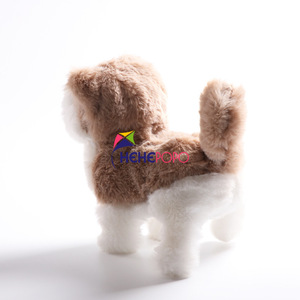 Image 3 - 2pcs / Set Hot Electric Soft Plush Robot Dog Husky Toys Can Bark Walking Forward and Backward Simulation Toys for Children Gifts