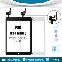 For iPad Mini 3 Mini3 Touch Glass Screen Digitizer Home Button With IC Conector For iPad mini 3 A1599 a1600 A1601(China)