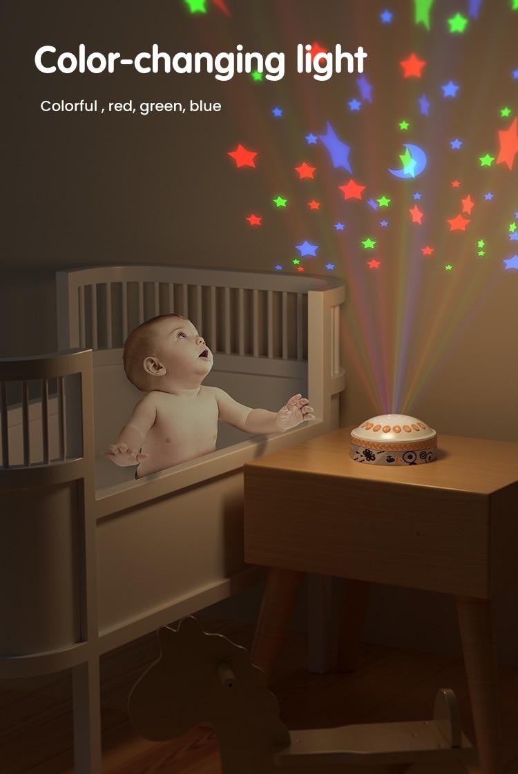 projetor de luz com céu estrelado, atualização,
