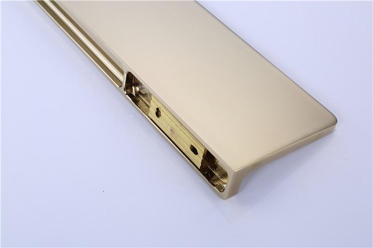 bathroom shower shelves shampoo holder sqaure Bathroom solid brass gold Accessories bath hardware - 5