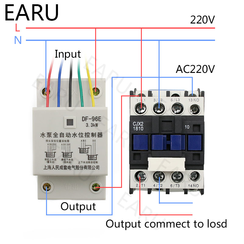 Image 5 - DF 96ED Automatic Water Level Controller Switch 10A 220V Water Tank Liquid Level Detection Sensor Water Pump Controller-in Flow Sensors from Tools