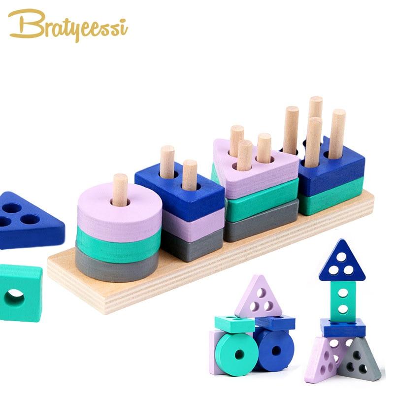 Деревянные строительные блоки Монтессори, Обучающие Игрушки для раннего развития, цветная форма, развивающая игрушка для мальчиков и девочек| |   | АлиЭкспресс - Товары для детей: бестселлеры