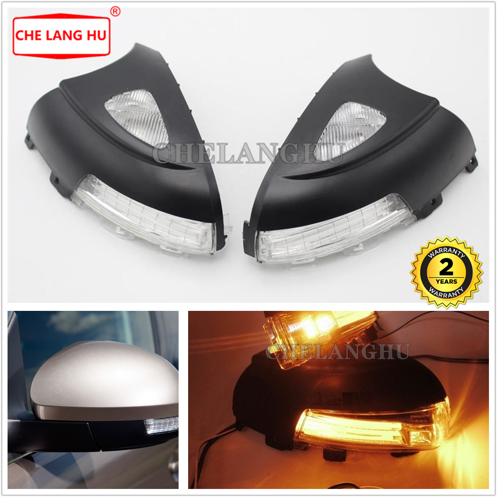 For VW Tiguan 2012 2013 2014 2015 2016 2017 2018 Car-styling Rear LED Mirror Light Lamp Turn Signal Indicator With Puddle Light image