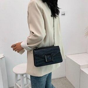Image 2 - 2021 женские сумки через плечо из искусственной кожи с каменным узором, маленькая простая сумка через плечо, женские роскошные сумки и кошельки с цепочкой