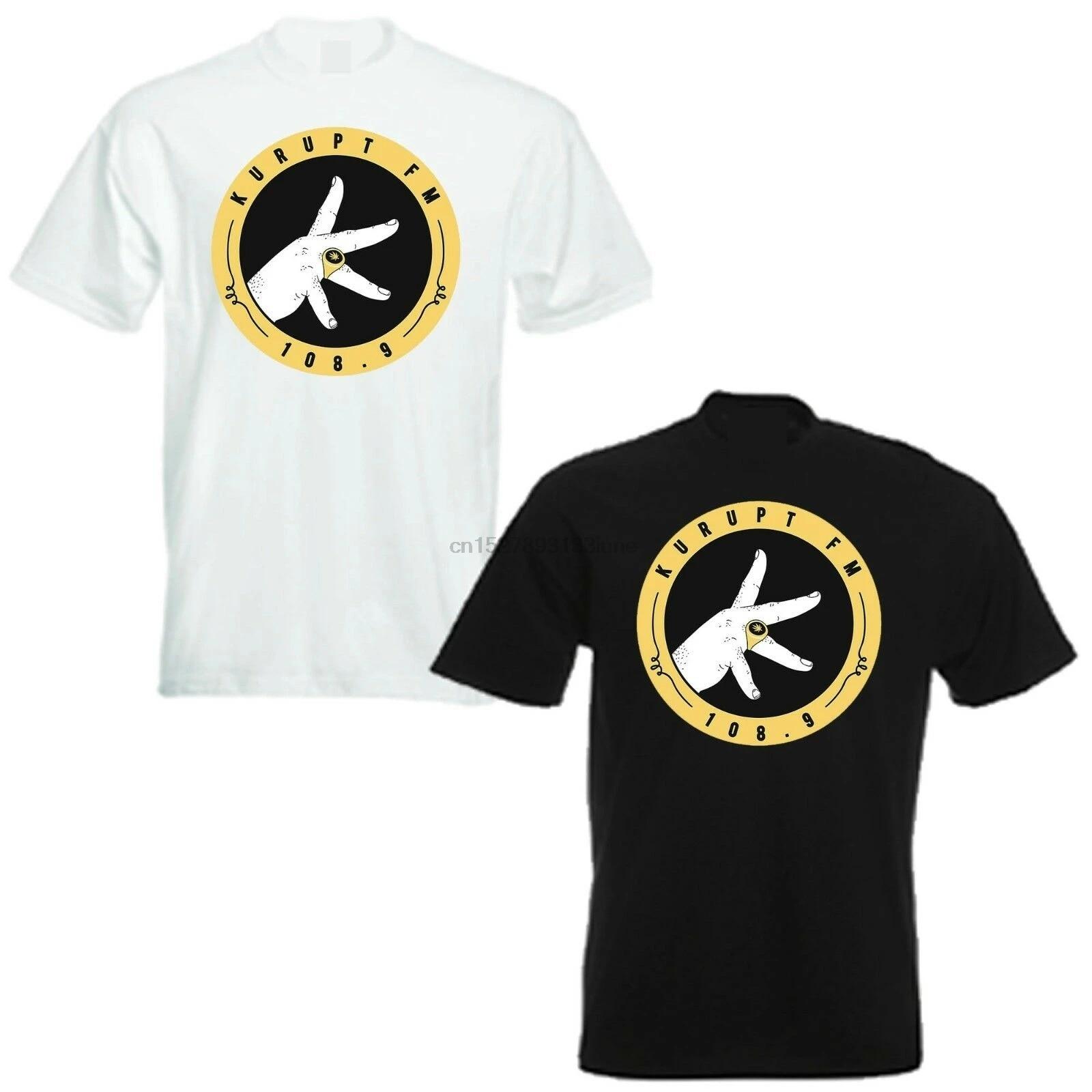 KURUPT FM Hommes T Shirt Tee LES GENS NE Drôle DJ rien radio pirate Vinyle