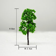 20pcs Model Wire Green Tree Trunk Scale Train Layout Set 90/35 For HO N Toys Miniature Landscape DIY Plastic Simulation Scenario(China)