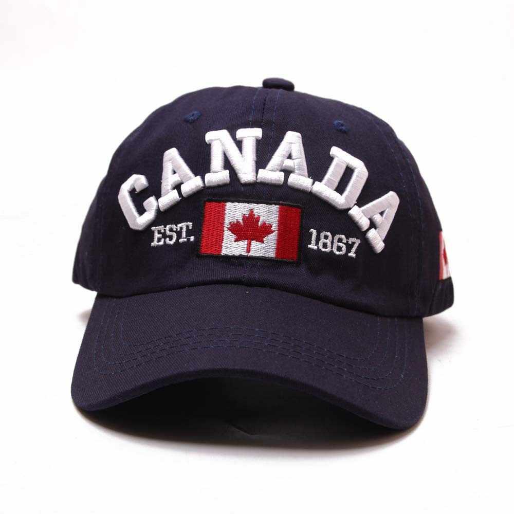 Hatlander العلامة التجارية كندا إلكتروني التطريز البيسبول قبعات القطن غورا سنببك منحني أبي قبعة الترفيه في الهواء الطلق النساء الرجال قبعة رياضية