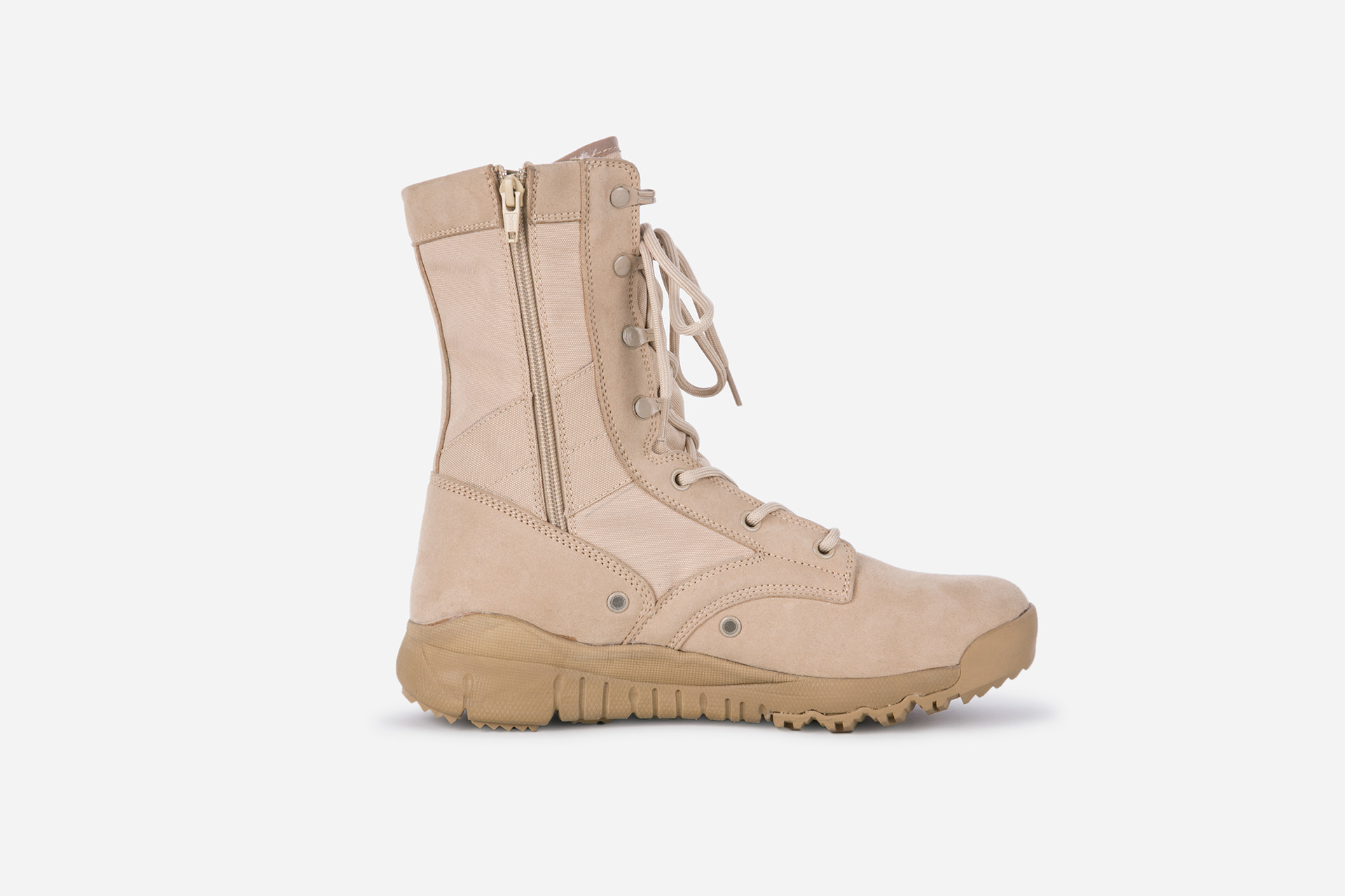 Combat Boots Ultra-Light-Combat Boots Side With Zipper Hight-top Men's Combat Boots Desert Boots Sandy Color Boots