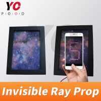 YOPOOD Invisible Ray Prop Real Life Escape Room Use Mobile Phones shooting interface to show password flashes Takagism Game