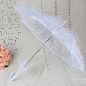 Womens Womens Western Style Hollow Out Floral Lace Umbrella Wedding Bridal Manual Opening Fleur Parasol Ruffles Trim Romantic