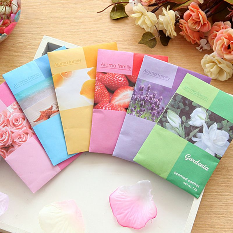 Mini Natural Air Freshener Vanilla Sachets Paper Fragrance Bag Scented Perfume Decoration