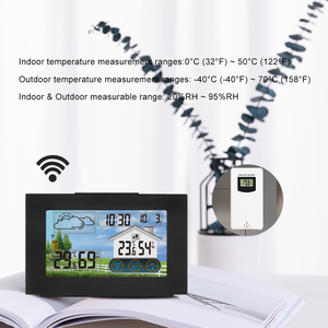 Метеостанция FanJu с сенсорным экраном, беспроводной Измеритель температуры и влажности в помещении и на улице, с цифровым будильником, с датчиком 1-3 и инструментами с температурой до 40 ℃