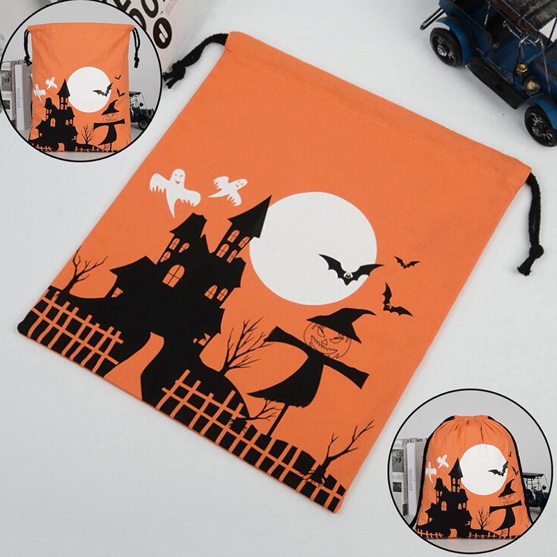 1PCS 36X44cm Candy Gift Storage Pouch Halloween Pumpkin Witches Drawstring Bags Candy Cookie Gift Bag Party Supplies