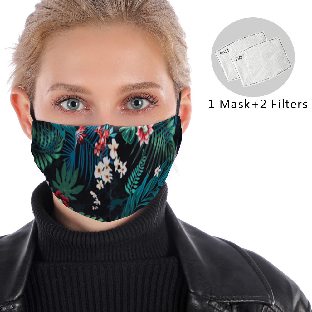 Reusable Facemask Washable Mask PM2.5 Filter Mask Protective Anti Dust Women Mouth Mask Anti Flu Windproof Mouth-muffle