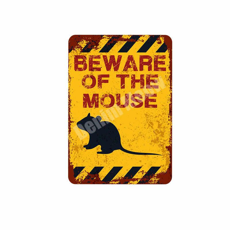 ATTENZIONE DI Coniglio Retro Targa In Metallo Targhe In Metallo Decorazione del Giardino Del Mouse Scimmia Adesivi Murali Kraken Piastra Animale Segno di Avvertimento MN99