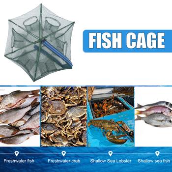 6 8 otwory wędkarska siatka do odławiania ryb przenośna nylonowa składana kraba krewetki sieć rybna pułapka na ryby obsada netto obsada składane narzędzia sieciowe wędkarskie tanie i dobre opinie JOCESTYLE CN (pochodzenie) Sieci rybackie