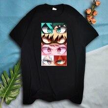 Camisetas de My Hero Academia para hombre, Camisa de algodón de manga corta con estampado de Anime japonés, Tops informales de dibujos animados Harajuku