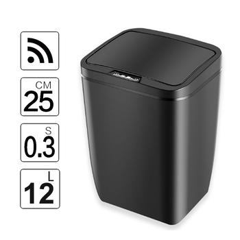 Automatyczne bezdotykowe kosze na śmieci czujnik ruchu na podczerwień z pokrywką do kuchni łazienka sypialnia biurowa 12L 3 2Gal tanie i dobre opinie SDARISB Plac Stojąca Ekologiczne Typu indukcyjnego DR-HW026