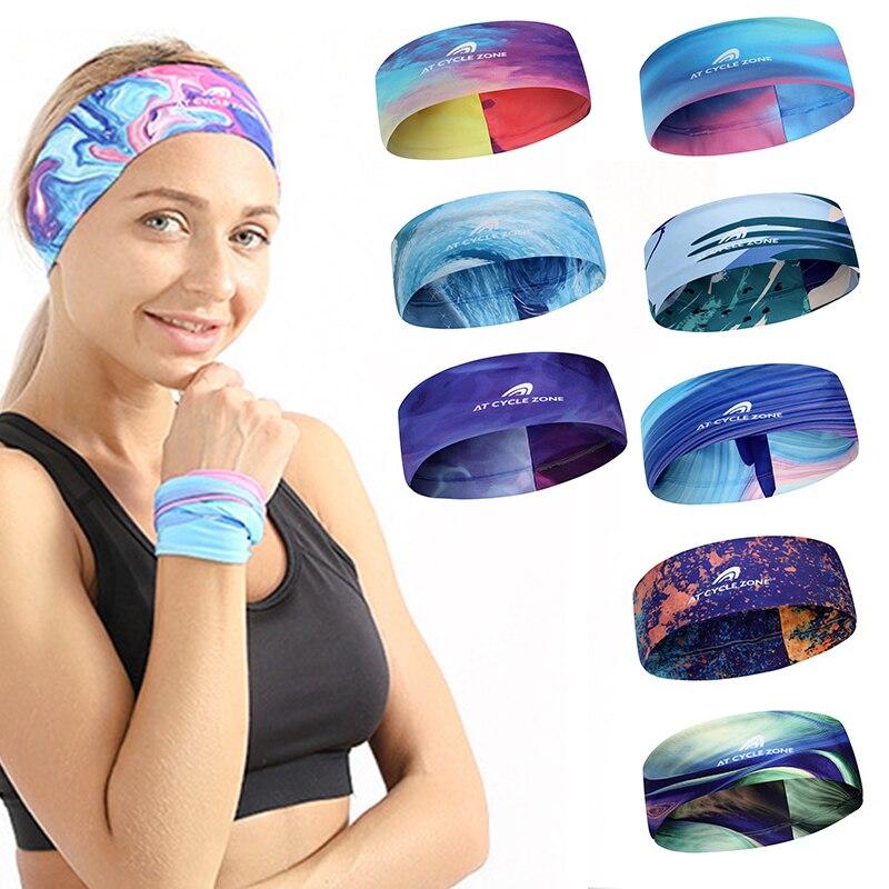 1pcs Yoga Hair Bands Elastic Sports Headband Gym Anti-Slip Slim Hair Band Fitness Antiperspirant Band Fashion Turban Low Sale