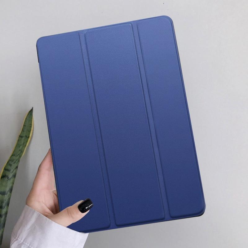 Navy Blue Blue Funda iPad 10 2 inch 2020 PU Leather Tri fold Shockproof Case For Apple iPad 8th