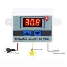 10A 12V 24V 110V 220VAC цифровой светодиодный регулятор температуры XH-W3001 для инкубатора охлаждение, Отопление Переключатель Термостат NTC сенсор