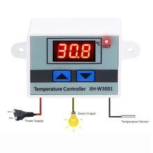 10A 12V 24V 110V 220VAC Digital LED Temperature Controller XH-W3001 For Incubator Cooling Heating Switch Thermostat NTC Sensor cheap Tucuxi Electrical Measuring Set Load power 120 240 1500W DC12V DC 24V AC220V