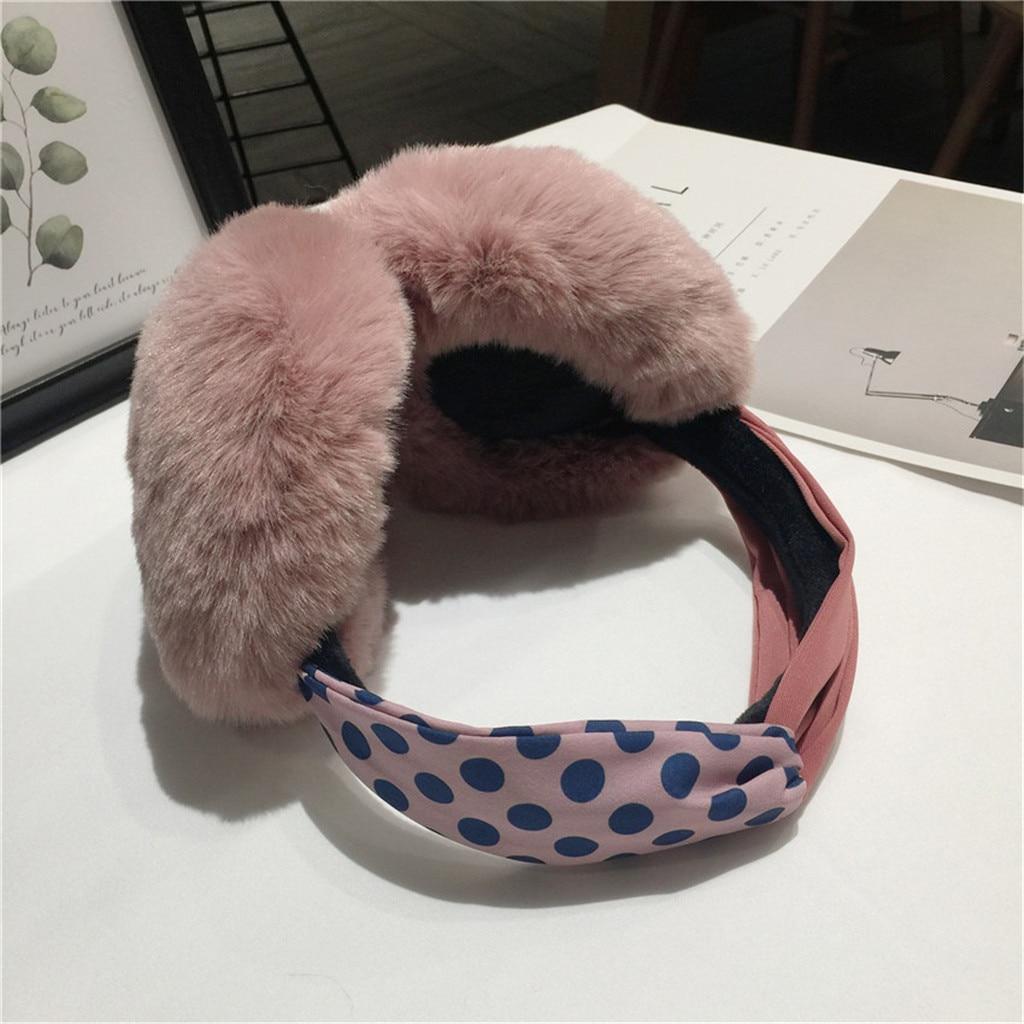 Winter Accessories Women Funny Winter Earmuffs Faux Fur Headband Knot Warmer Plush Party Oorwarmers