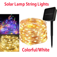 LED Garden Yard Solar Lamp String Lights 5M 10M 15M 20M 200 LEDs Fairy Holiday Christmas Party Garland Solar Garden Waterproof cheap oobest Ball Solar Cell solar light string Other None YES IP43 support
