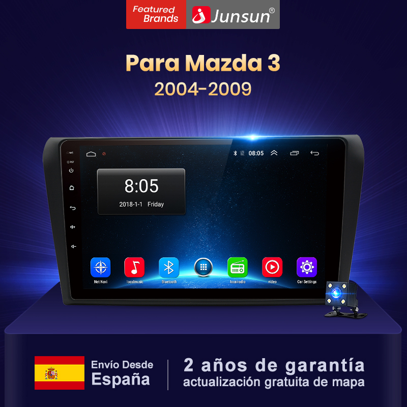 Junsun V1 4+64GB CarPlay Android 9,0 DSP Radio coche navegación GPS para Mazda 3 2004-2009 reproductor vídeo Multimedia No 2din