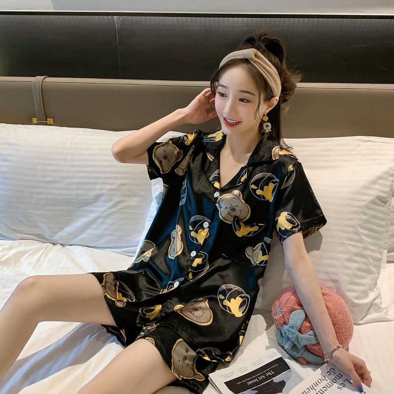 Plus Size Nightgown Sexy Sleepwear Summer Lady's Nightdress Loose Clothes Imitation Silk Female Sleepshirt Female Sleepshirts