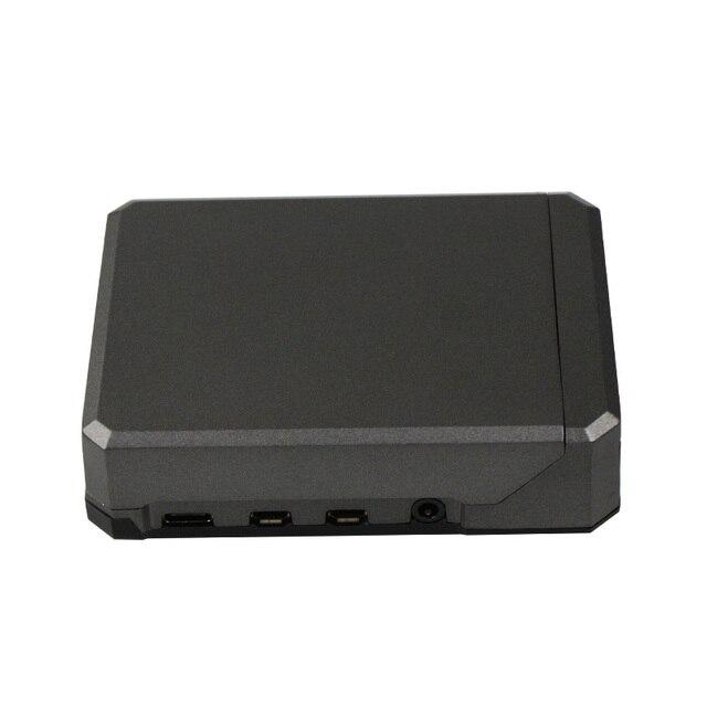 Carcasa de aluminio refrigerante para Raspberry Pi 4 Modelo B carcasa de armadura de refrigeración automática para Rasperry pi 4