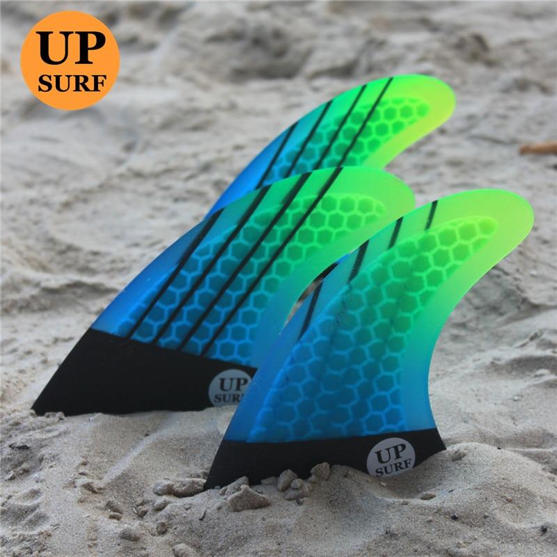 Surfboard fins FCS G5 fin Honeycomb Carbon Fibreglass G5 fins surf upsurf logo
